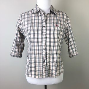Burberry London Blue Label Classic Check Print Top